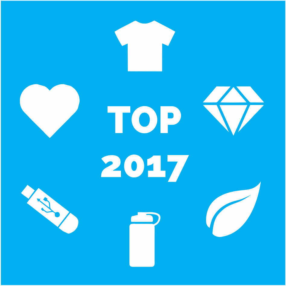 These are promotional trends for 2017: technology, apparel, health, higher value, drinking and eco-friendly items.